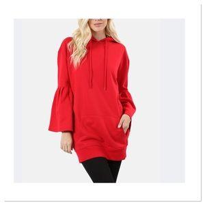Ruby Oversize Bell-Sleeve Hoodie